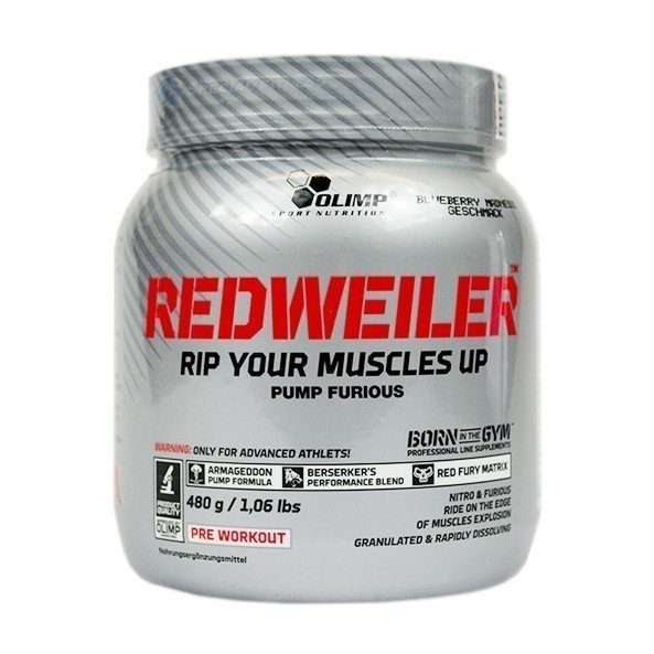 Olimp Redweiler Pre Workout Booster 480g Dose