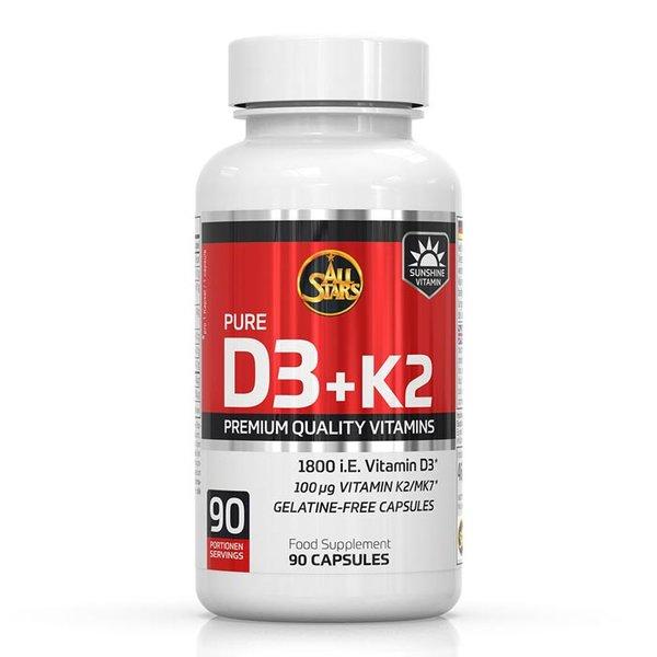 ALL STARS Vitamin D3 + K2 - 90 Kapseln