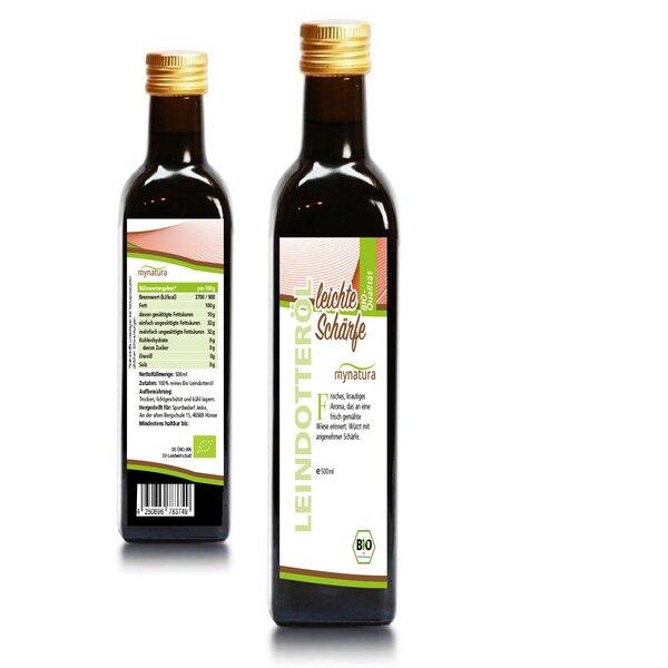 Mynatura Bio Leindotteröl I Speiseöl I Leicht scharf I Aromatisch I Kochen I Würzen I Leindotter I Ö