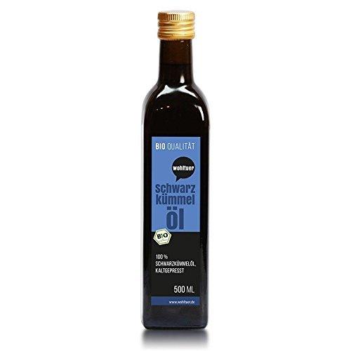 Wohltuer Bio Schwarzkümmel Öl 500 ml - Kaltgepresst