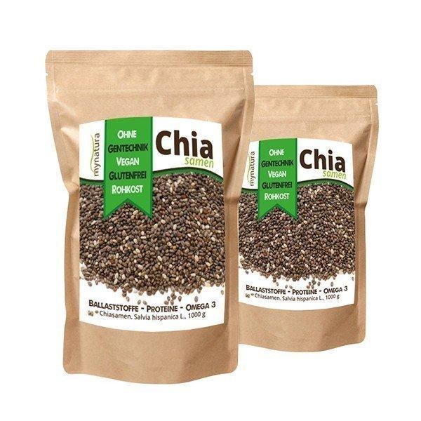 Mynatura Chia Samen Doppelpack (2x 1000g Beutel)