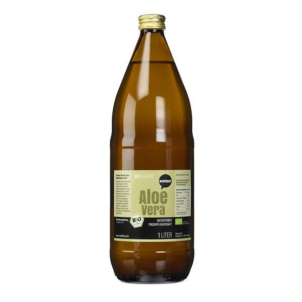 Wohltuer Aloe Vera Frischpflanzensaft naturtrüb 1L Flasche