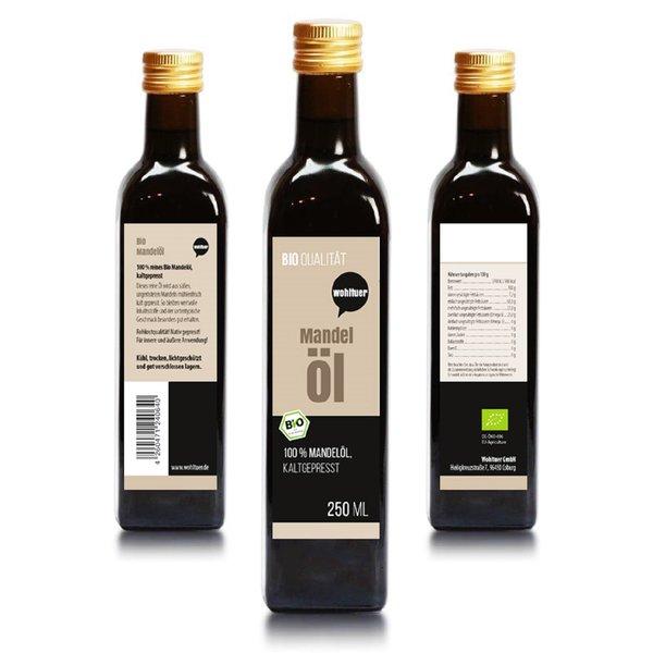Wohltuer Bio Mandelöl - Nativ gepresst und 100% rein Natur pur 250 ml