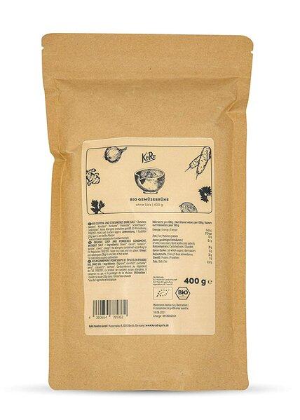 KoRo - Bio Gemüsebrühe ohne Salz 400 g - Würzig und lecker - Natriumarm und ohne Konservierungsstoff