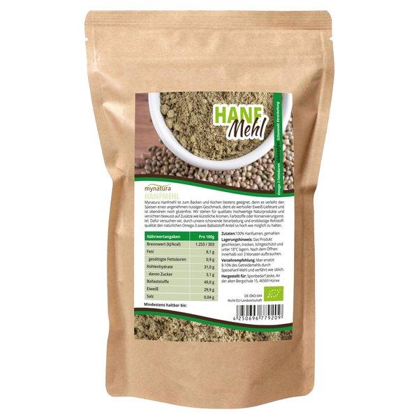 Mynatura Bio Hanfmehl Hanfsamen-Mehl Omega 3, Ballaststoffe 1000g