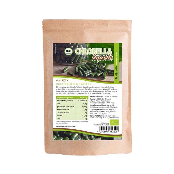 Mynatura Bio Chlorella Kapseln Algen 150 Stück