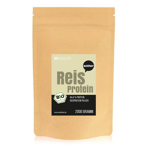 Wohltuer Bio Reisprotein vegane Proteine 2000g