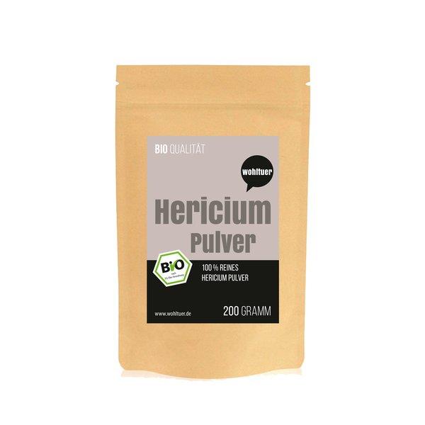 Wohltuer Bio Hericium Pulver Vitalpilz Mineralstoffreiche 200g