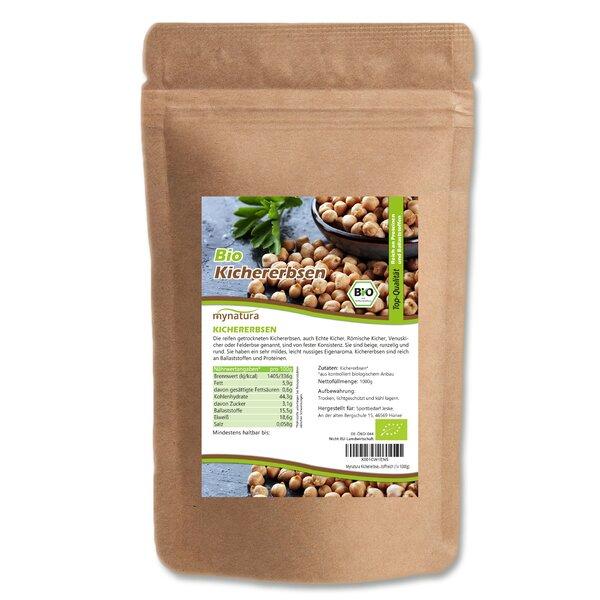 Mynatura Bio Kichererbsen ganz Hülsenfrüchte Hummus Kochen Eiweiß