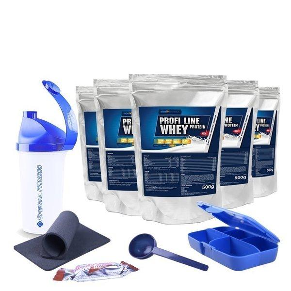 BODYWORKS Profi Line Whey Protein (5 x 500g Beutel)