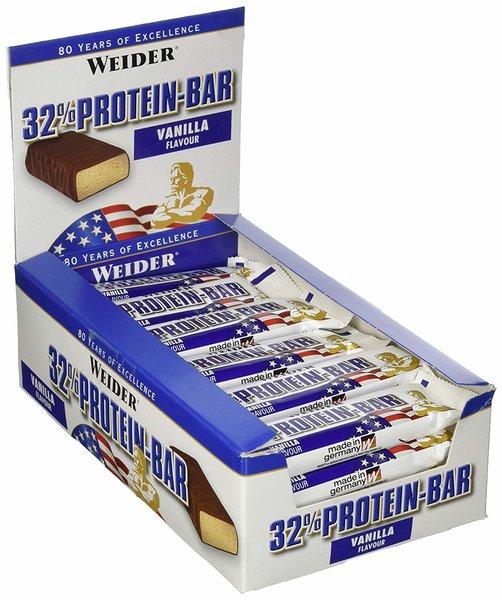 Weider 32% Protein Bar, 24 Eiweiß-Riegel à 60g