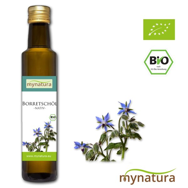 Mynatura Bio Borretschöl Nativ gepresst