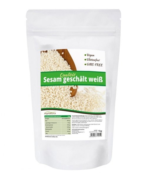 Mynatura Sesam weiß geschält 1kg Beutel