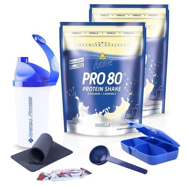 Inko Pro Active 80 Protein Eiweiss-Shake 2 x 500g Beutel