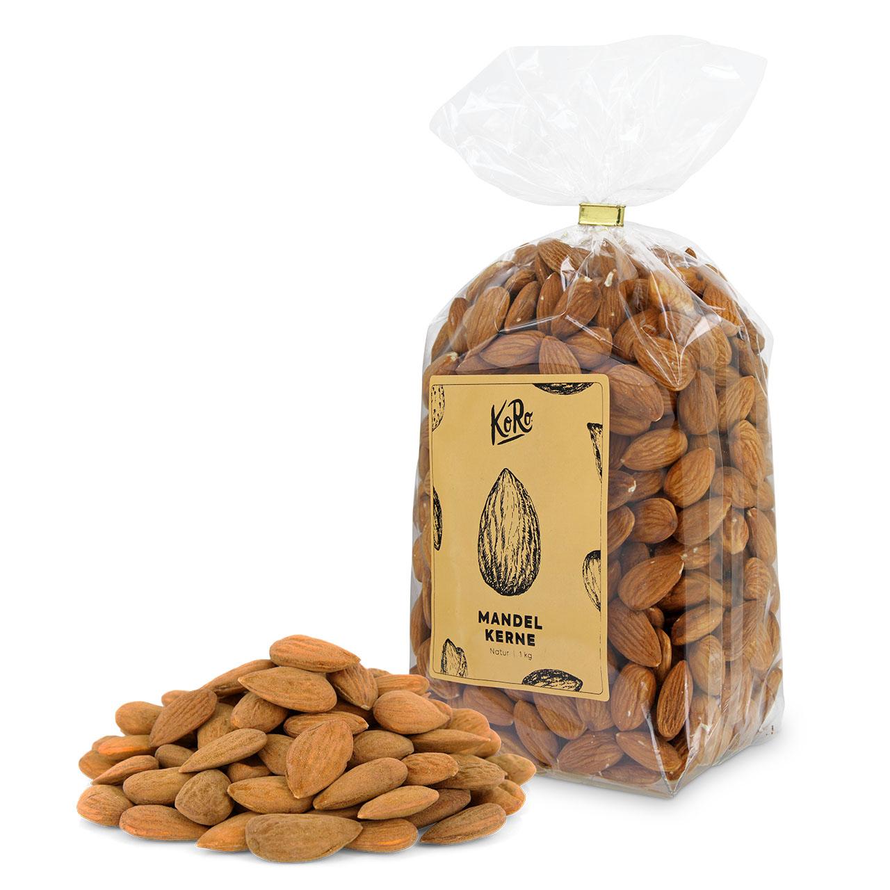 koro bio mandelkerne mandeln m slis ohne zus tze 1 kg natur vegan vegetarier. Black Bedroom Furniture Sets. Home Design Ideas
