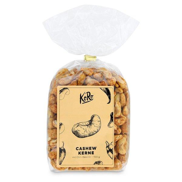 Koro Cashewkerne mit Chili ohne Geschmacksverstärker   500 g natur