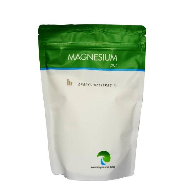 Magnesium Pur Pulver 500g Beutel PULVER Citrat Magnesiumcitrat