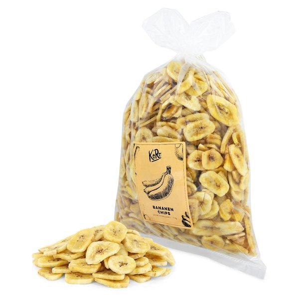 Koro Bananenchips ohne Zuckerzusatz Ohne Zucke leicht süßlich Müsli1 kg