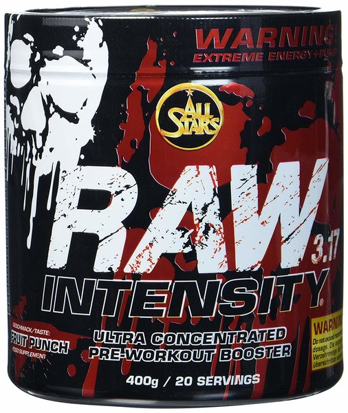All Stars Raw Intensity 3.17 Pre Workout Booster 400g Dose