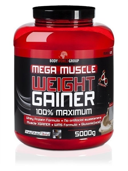 BWG Mega Muscle Weight Gainer 5kg Dose