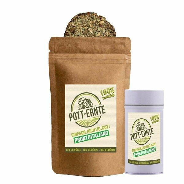 Pott-Ernte Bio Prontoitaliano Gewürzzubereitung 100g I Nachfüllbeutel + DOSE