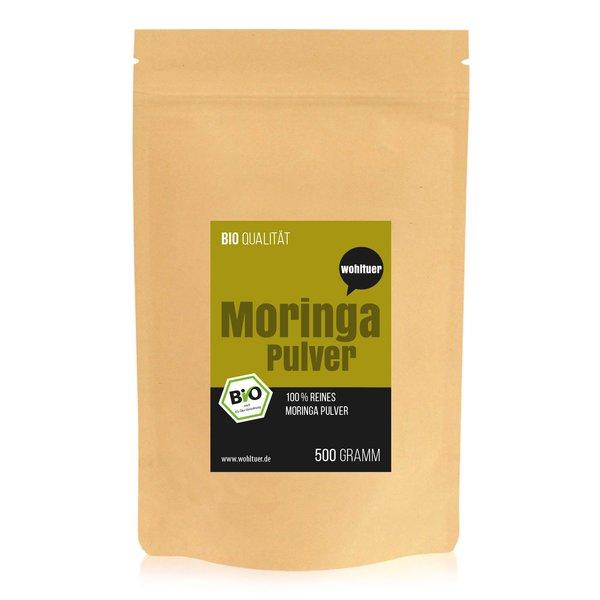Wohltuer Bio Moringa Oleifera Pulver 500g