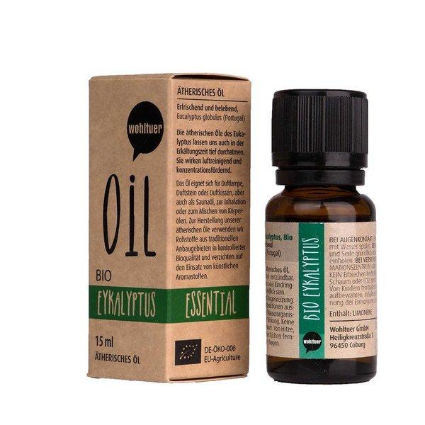 Wohltuer Bio Eukalyptusöl Ätherisches Öl Eukalyptus Bio (15ml)