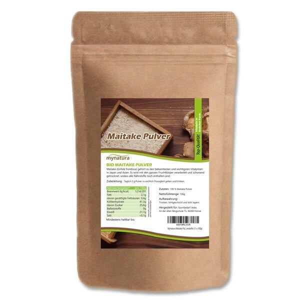 Mynatura Maitake Pulver - Vitalpilz Grifola frondosa Pilz Mineral-Pilz Klapperschwamm