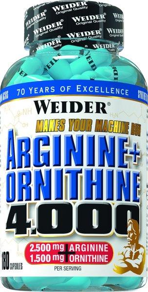 Weider Arginin + Ornithin 4000 (180 Kapseln)