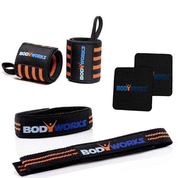 Bodyworks Gym Set ( Zughilfen+Handgelenkbandage+Griffpolster)