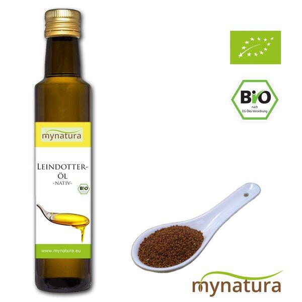 Mynatura Bio Leindotteröl ab 500ml - Glasflasche Leinöl Leindotter