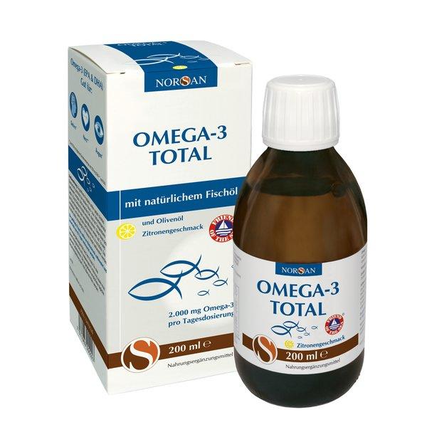 Norsan Omega-3 Total Zitronengeschmack Fischöl 2.000 mg flüssig 200ml