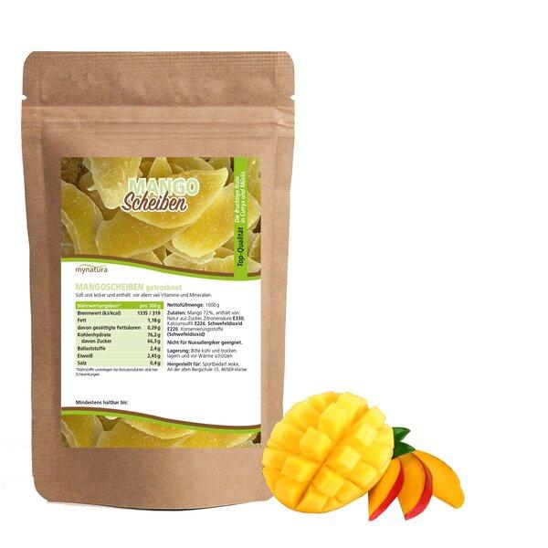 Mynatura Mangoscheiben, getrocknet - Mango Trockenobst Snack