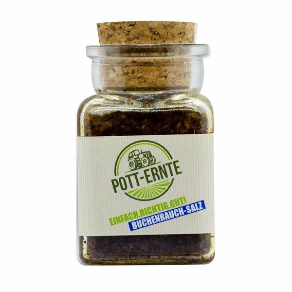Pott-Ernte Nordisches Buchenrauchsalz 150g Glas