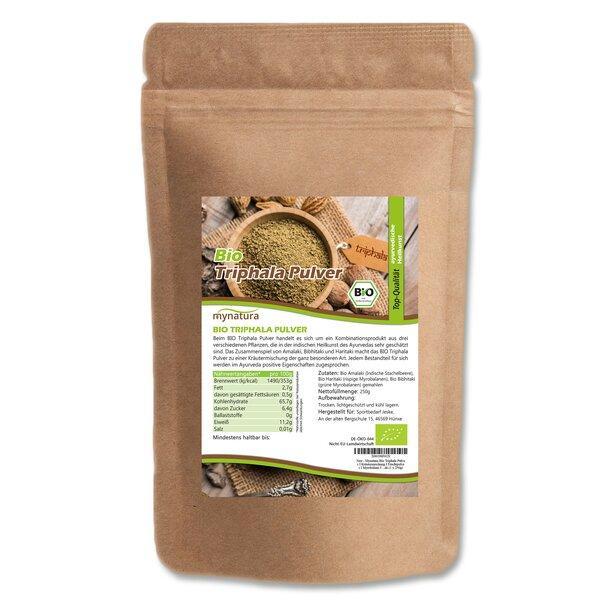 Mynatura Bio Triphala Pulver - Kräutermischung Fruchtpulver Myrobalane Ayurveda
