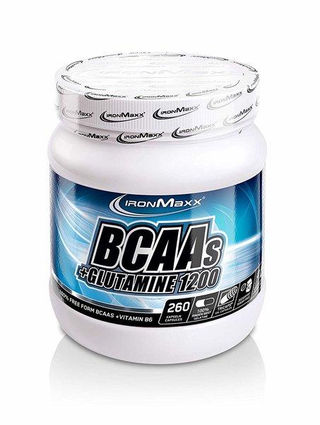Ironmaxx BCAA's + Glutamin TRICAPS, 260 Kapseln. a 1200mg