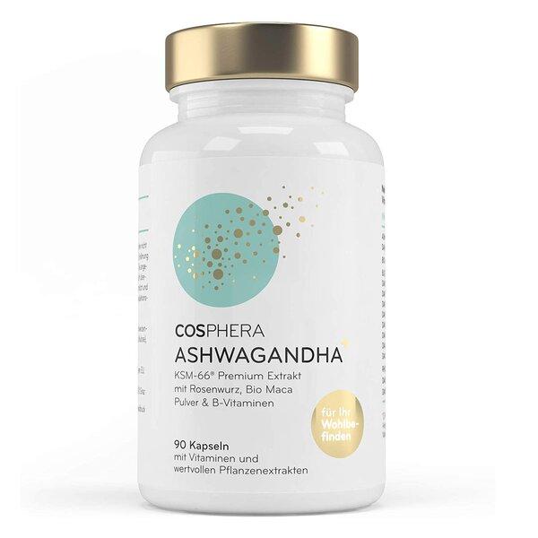 Cosphera Ashwagandha Kapseln 500mg hochdosiert Vegan