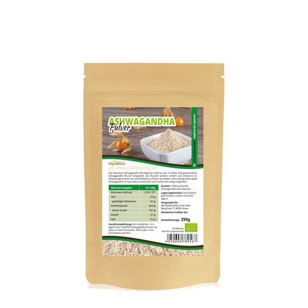 Mynatura Bio Ashwagandha Vegetarier Veganer Pulver 250g Beutel