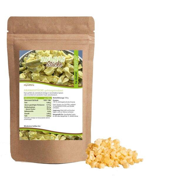 Mynatura Ananasstücke gefriergetrocknet - Ananas Snack Trockenfrüchte