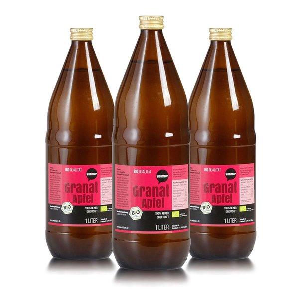 Wohltuer Bio Granatapfel reiner Direktsaft 3x1 L Flasche