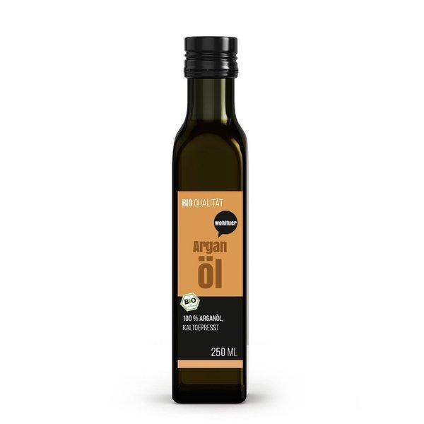 Wohltuer Bio Arganöl 250ml - Nativ gepresst und 100% rein - Natur pur (250ml)