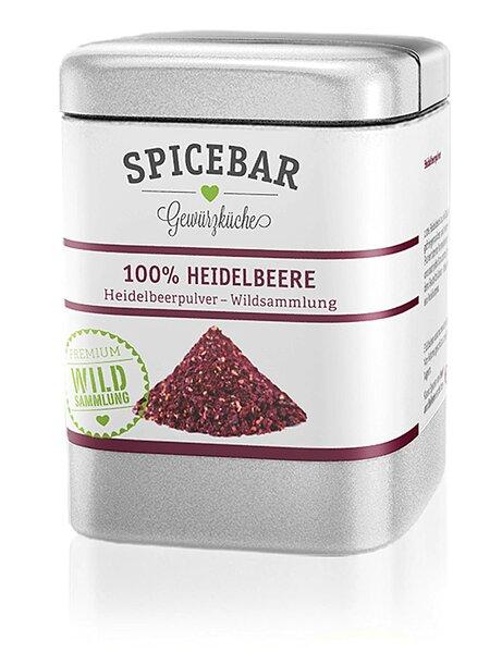 Spicebar Fruchtpulver gefriergetrocknet aus 100% Heidelbeere 50g