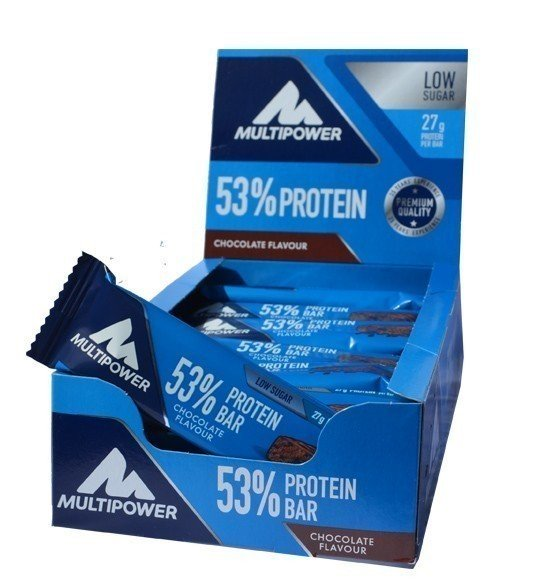 Multipower 53% Protein Bar, 24 Riegel a 50g