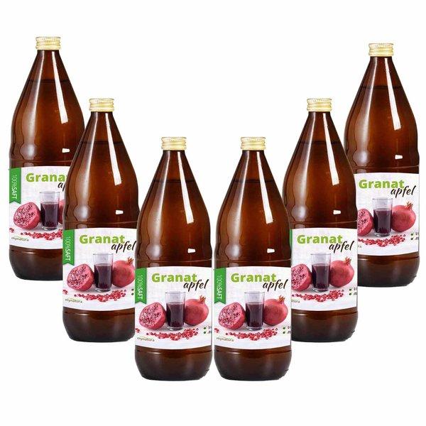 Mynatura Granatapfel Direktsaft, 100% Muttersaft 6 x 1L