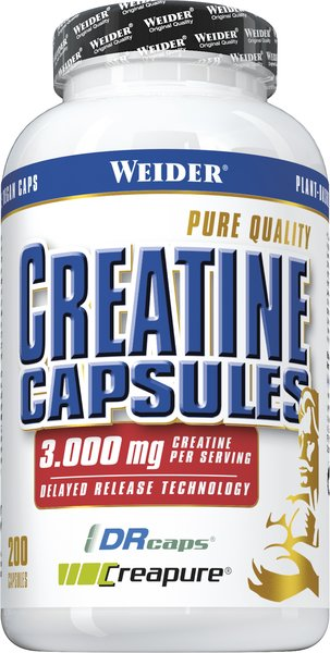Weider Creatine (Creapure®), 200 Kapseln à 1071mg