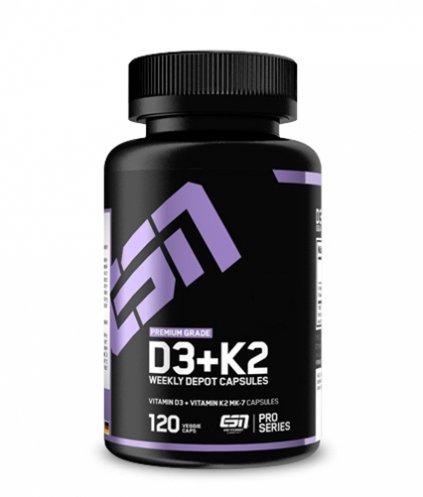 ESN Vitamin D3+K2 Vitamin 120 Caps