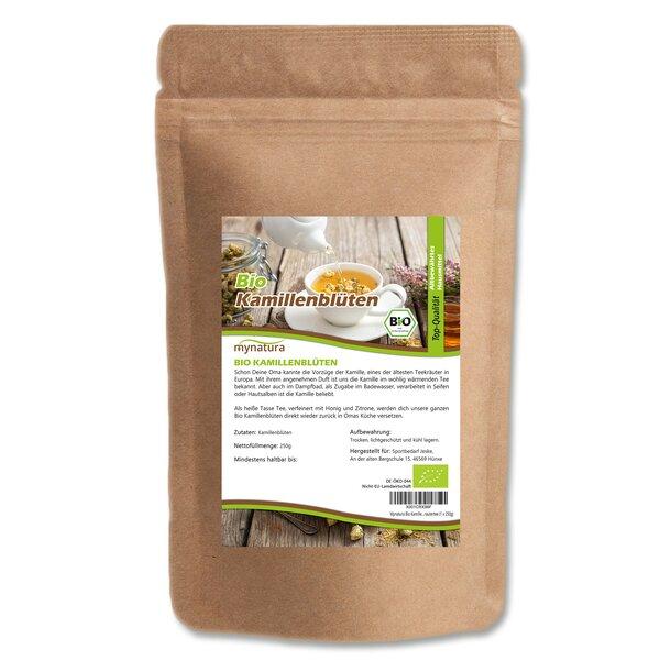 Mynatura Bio Kamillenblüten, getrocknet, ganz ab 250g - Naturbelassen Kräutertee Tee Blüten