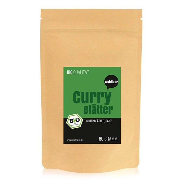 Wohltuer Bio Curryblätter ganz 60g - Sehr eisenreiche Gewürz Tee