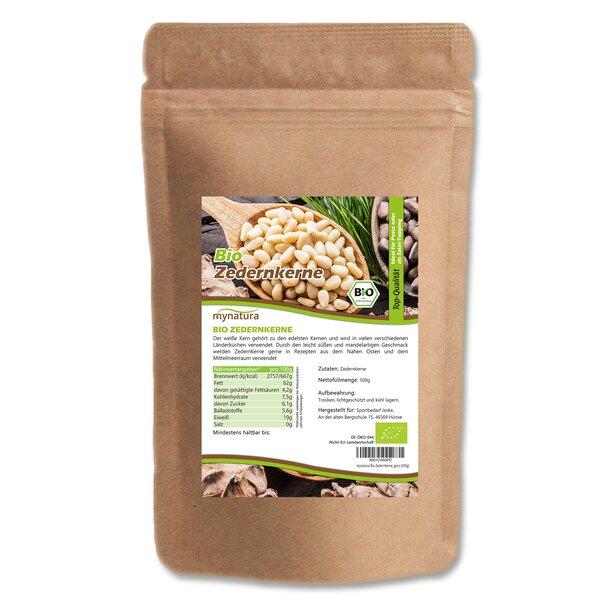 Mynatura Bio Zedernkerne, ganz Zedern Kerne Pesto Pasta Soße
