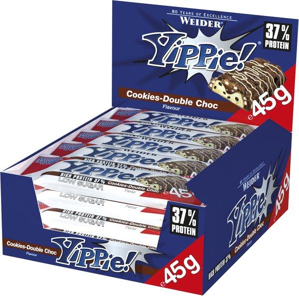 Weider Yippie! Proteinriegel (12 x 70g Riegel Box)